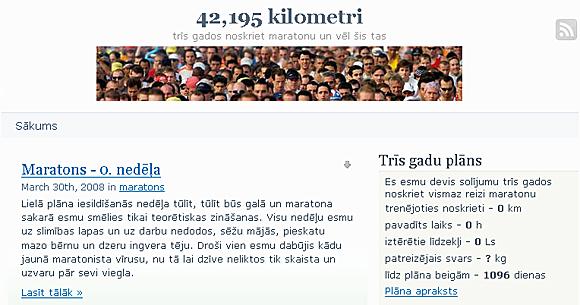 Blogs ar mērķi - 42,195 kilometri