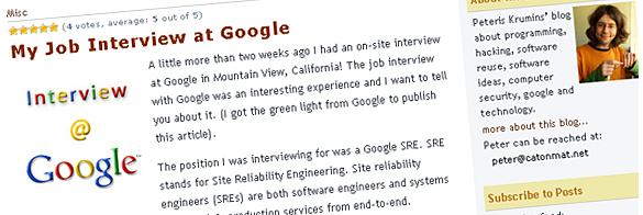 Intervija Google