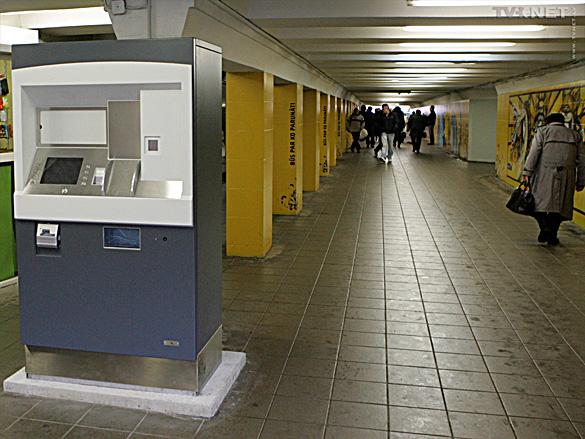 e-talona automāts autoostas tunelī