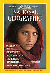 Sharbat Gula on National Geographic cover