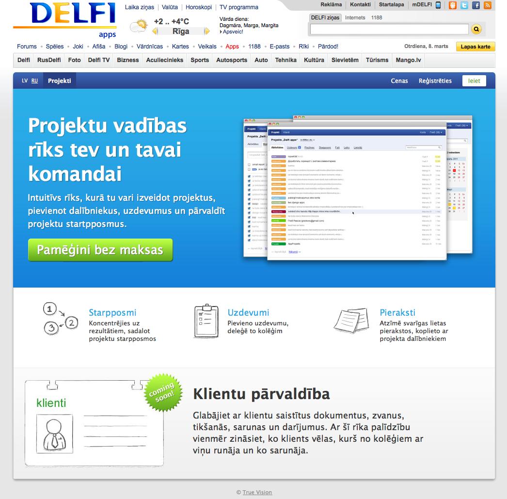 Delfi.lv piedāvā Basecamp klonu