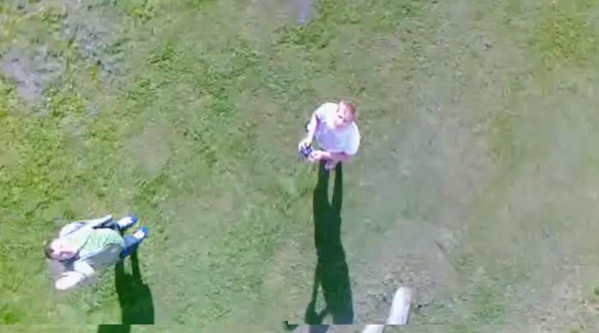 video no radiovadāmā helikoptera skatupunkta