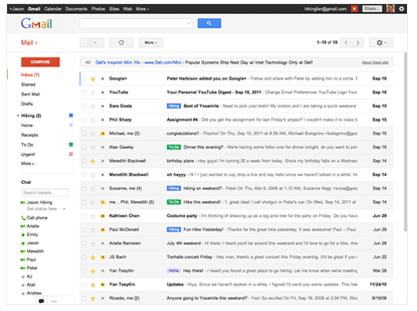 jaunais Gmail izskats