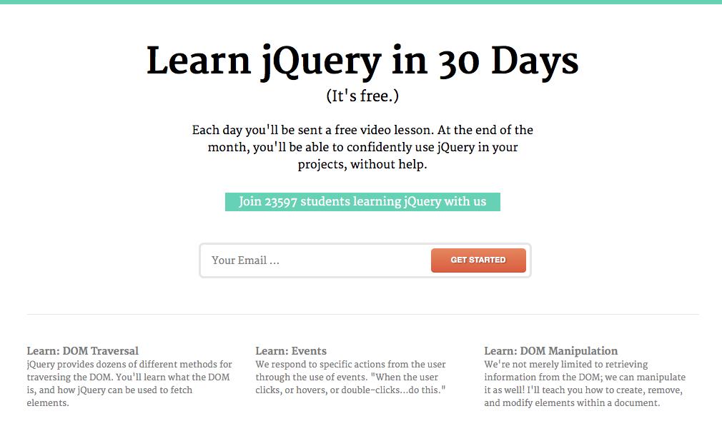 iemācies jQuery 30 dienās