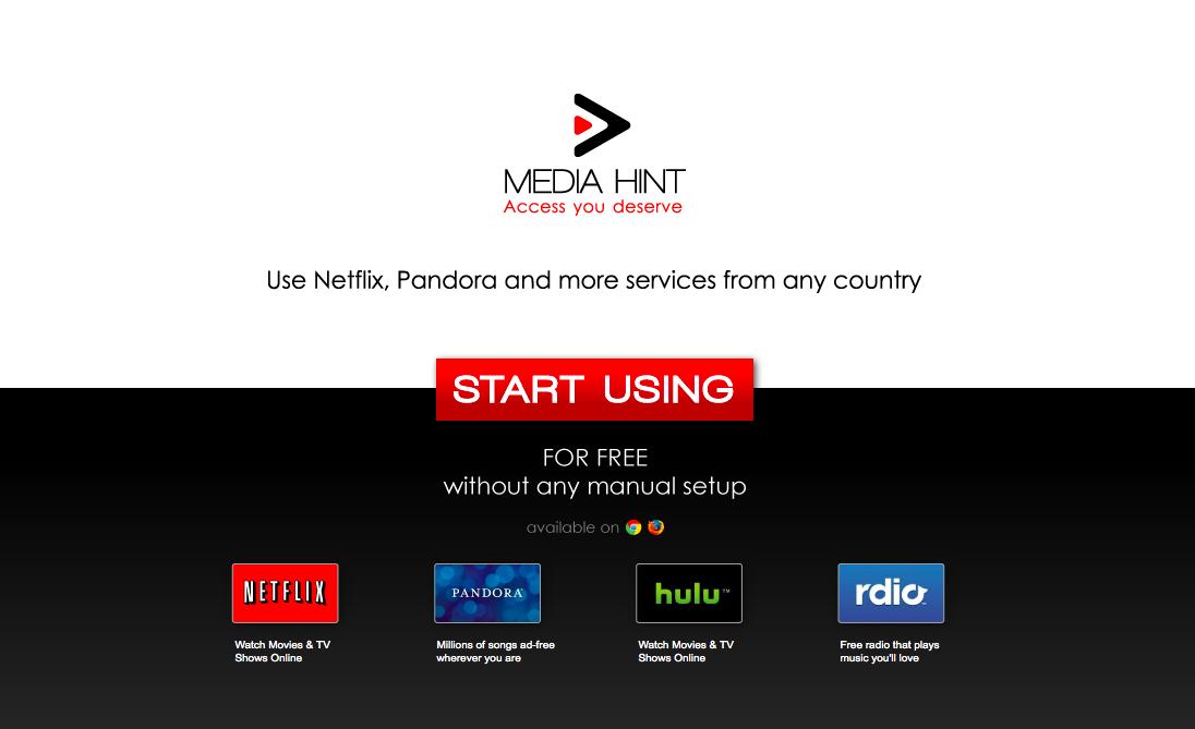 lieto Netflix, Pandora, Hulu un Rdio ar Latvijā radītu bezmaksas servisu Media Hint