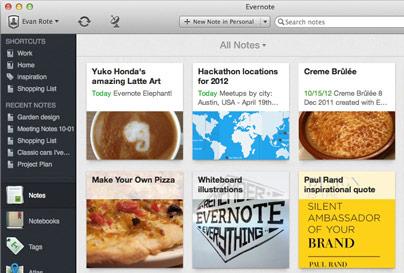 drīzumā būs pieejams Evernote 5 for Mac