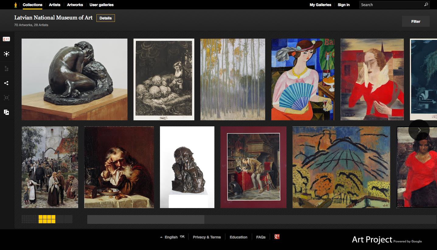 Latvijas Nacionālā mākslas muzeja gleznas iekļuvušas Google mākslas projektā