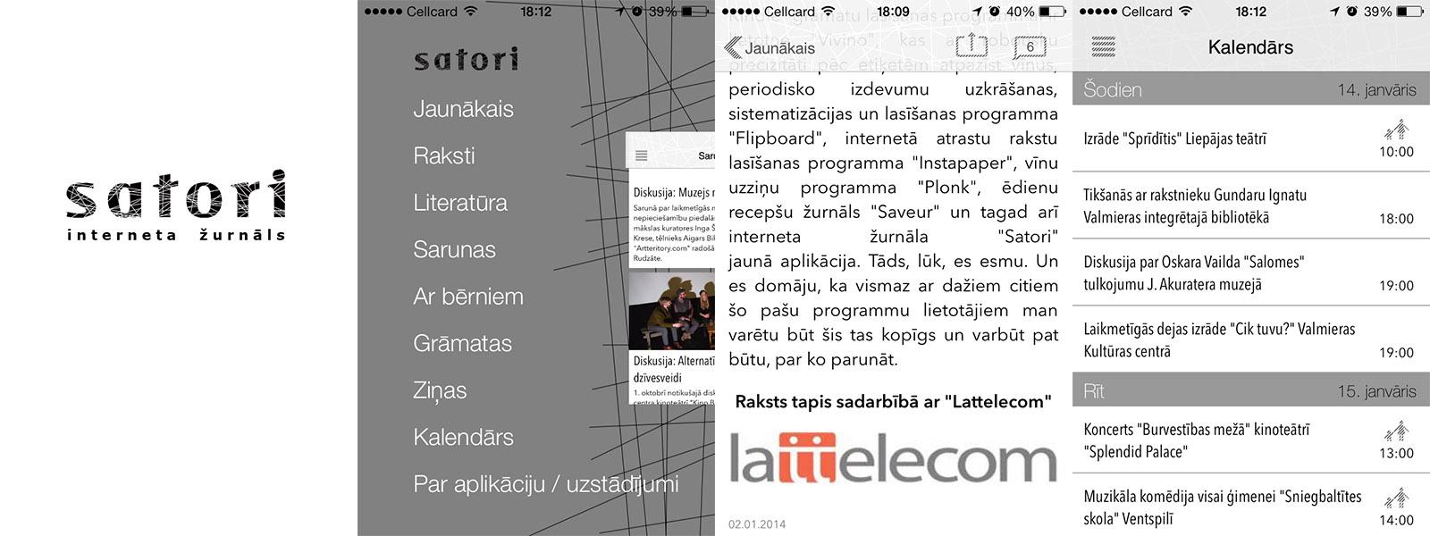 Satori.lv iPhone aplikācija