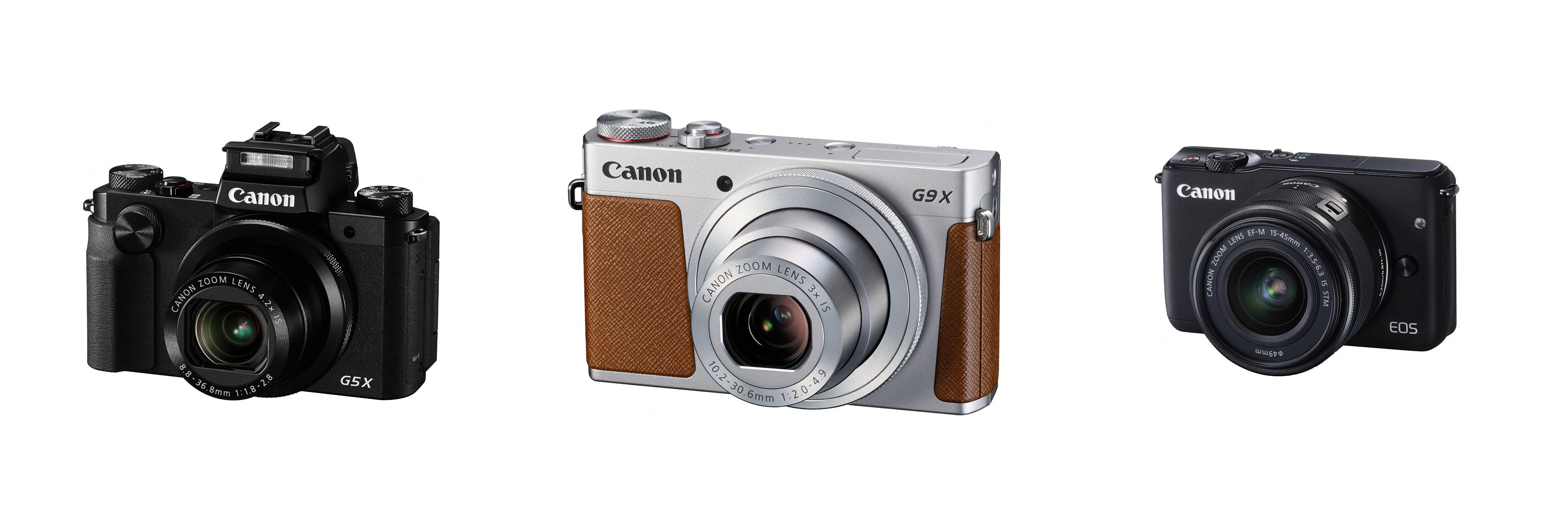 Canon EOS M10, G5 X un G9 X