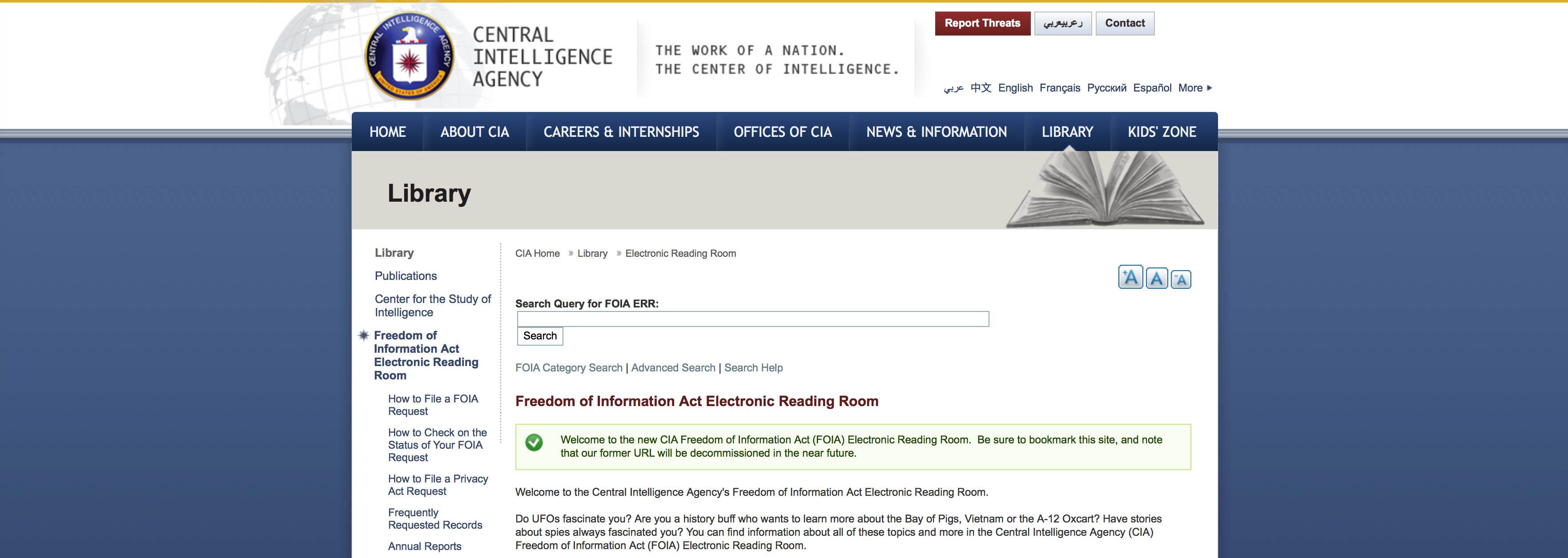 CIP (CIA) publiskotie slepenie ziņojumi