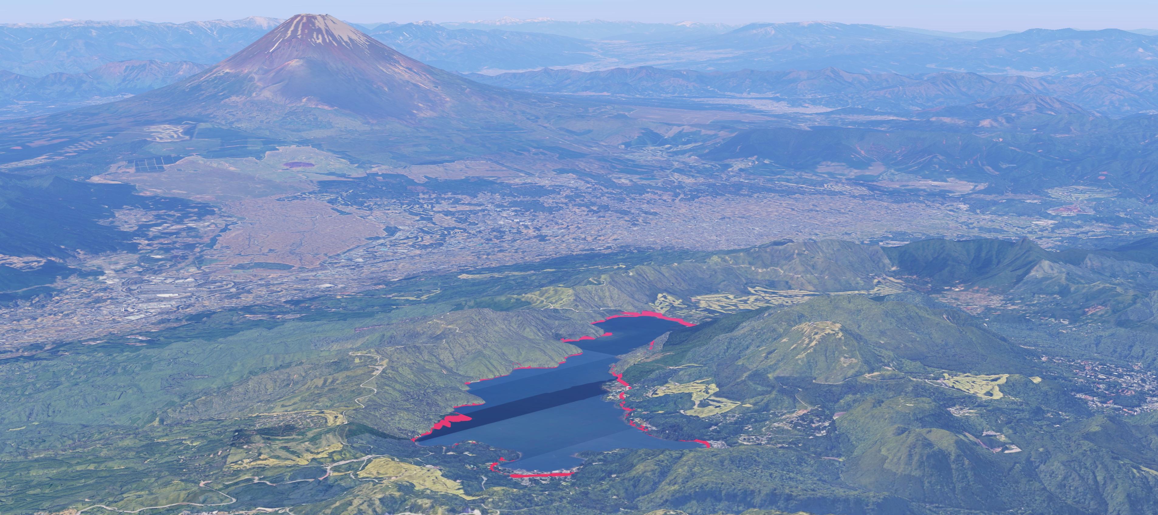 Skrējiens apkārt Hakones Ashinoko ezeram