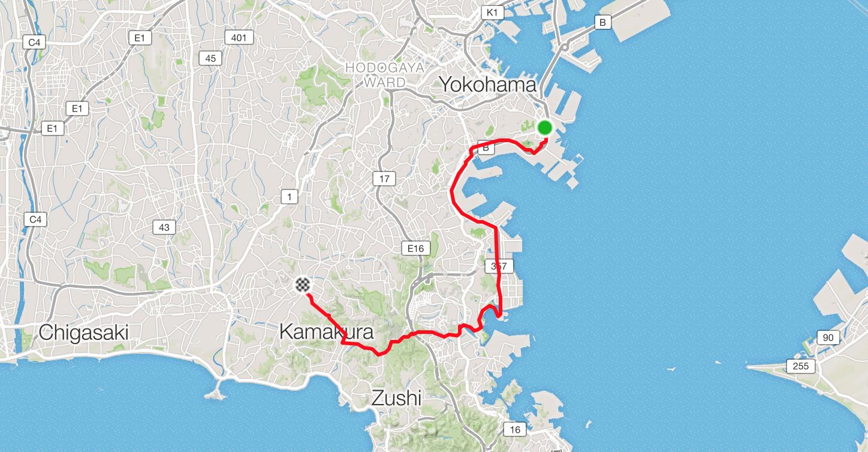garais skrējiens: Yokohama – Ofuna