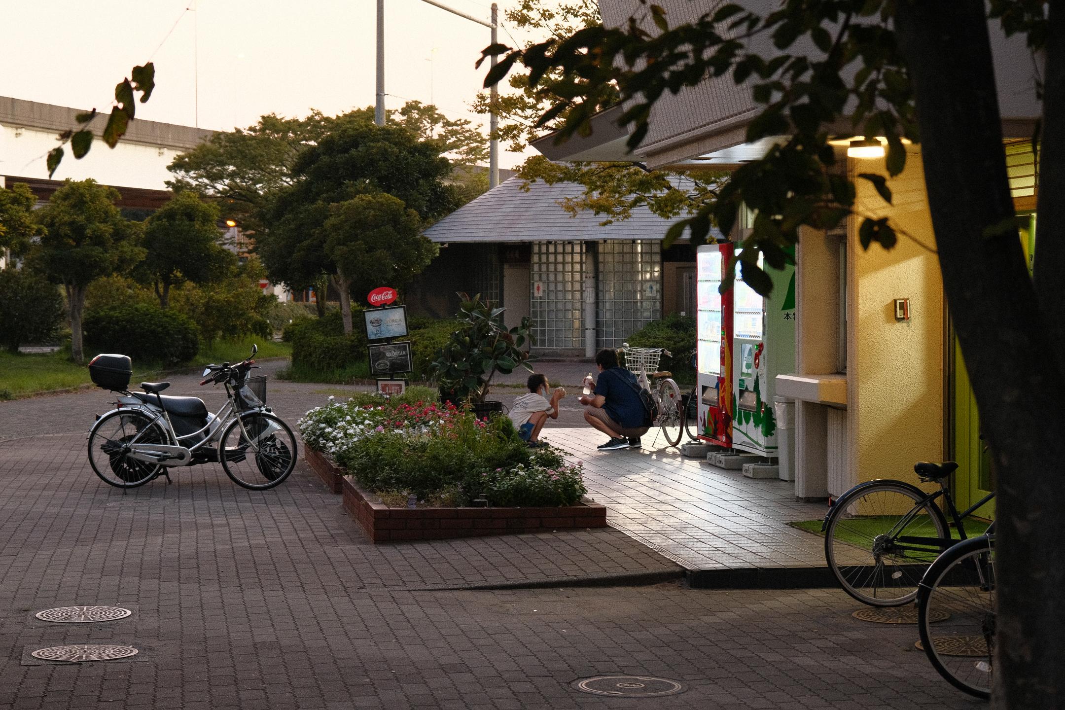 Honmoku Simin Rinkai parks vakarā